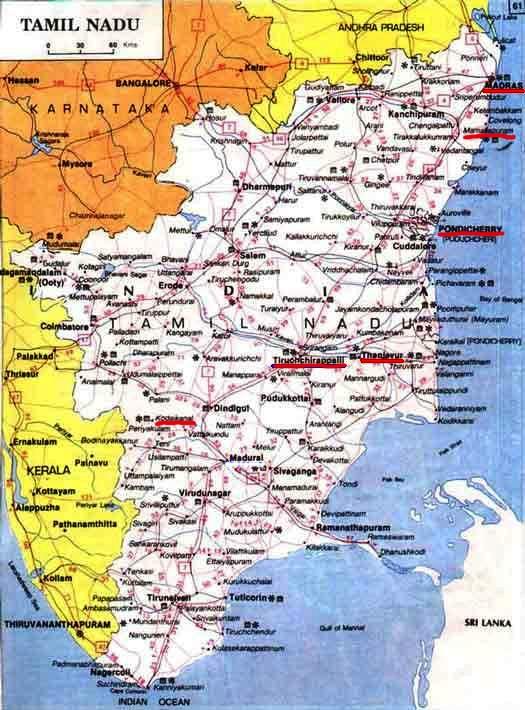 "South India Map Tamil Nadu See Big Map of Tamil Nadu """